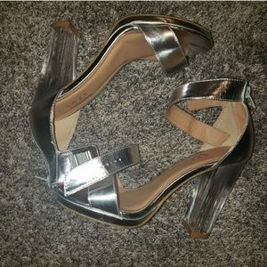 Lucite Clear heels ankle strap